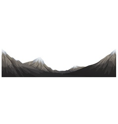 Mountains range with snow on top vector