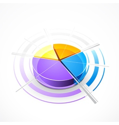 Pie-chart graph vector