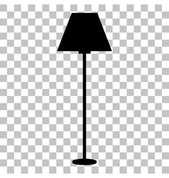 Lamp simple sign flat style black icon on vector