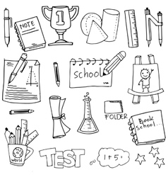 School hand draw doodles design vector