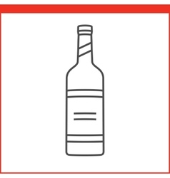 Alcohol bottle icon vector image vector image