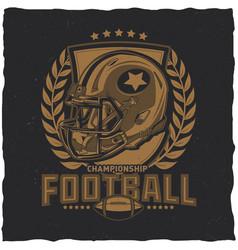 American football t-shirt label design vector