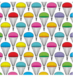background pattern with parachutes vector image