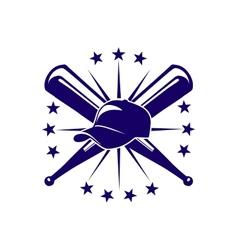 Baseball icon or emblem vector image vector image