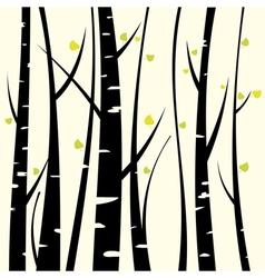 Birch three vector image vector image