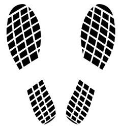 Black footprint icon vector image vector image