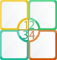 Board design flat color vector