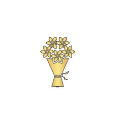 bouquet computer symbol vector image vector image