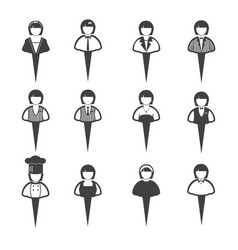 Business people icons women vector