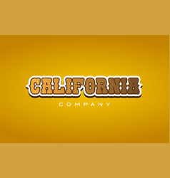 California western style word text logo design vector