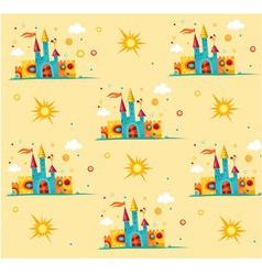 castle pattern vector image vector image