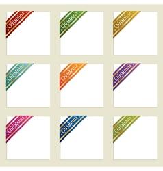 christmas corner ribbons vector image