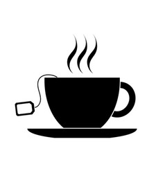 cup with tea bag icon vector image