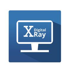 Digital radiography icon vector