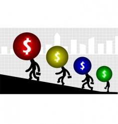 dollar graph vector image vector image
