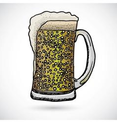 Doodle beer vector image vector image