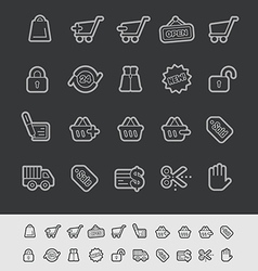 E-Shopping Icons vector image