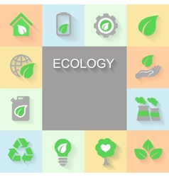 Ecology background with environment green energy vector image
