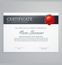 Elegant certificate design in simple style vector