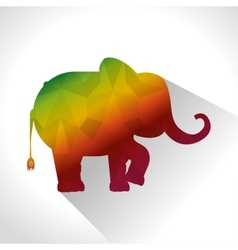 Elephant low poly silhouette vector