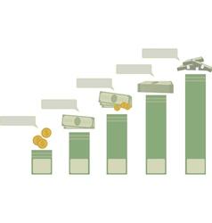 Financial charts vector