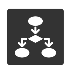 Flowchart icon from commerce buttons overcolor set vector