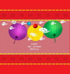 Graphics design elements of mid autumn festival vector