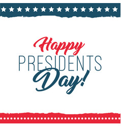 Happy presidents day label vector