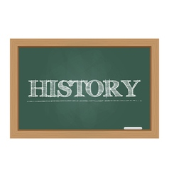 History text on chalkboard vector image