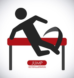 jump design vector image