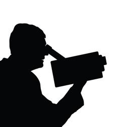 man with camera black vector image