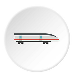 Modern high speed train icon circle vector