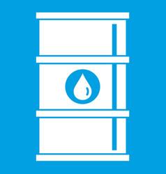 oil barrel icon white vector image vector image