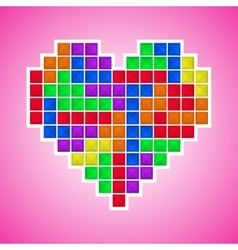 Old video game heart vector