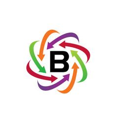 Online marketing business distribution b vector