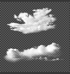 Realistic clouds on transparent background vector