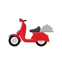 Red scooter speed delivery symbol vector