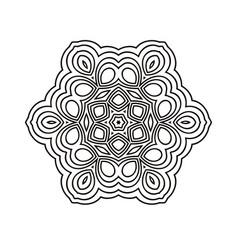 round geometric ornament vector image