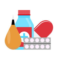 set drugs vector image vector image