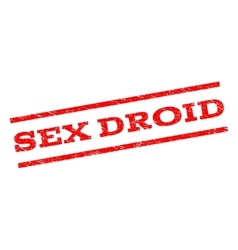 Sex droid watermark stamp vector