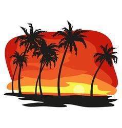 Sunet palms vector