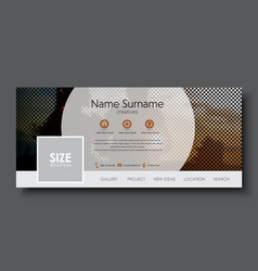 Template banner for social network vector