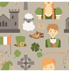 Travel to ireland pattern vector