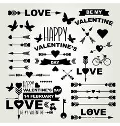 Valentines Day set of symbols vector image