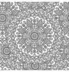 Vintage mandala seamless pattern vector image vector image