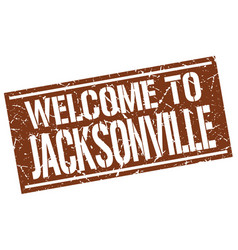 Welcome to jacksonville stamp vector