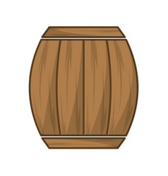 Wool barrel traditional container icon vector
