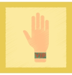 Flat shading style icon hand vip vector