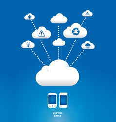 cloud graph vector image