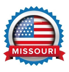 Missouri and usa flag badge vector